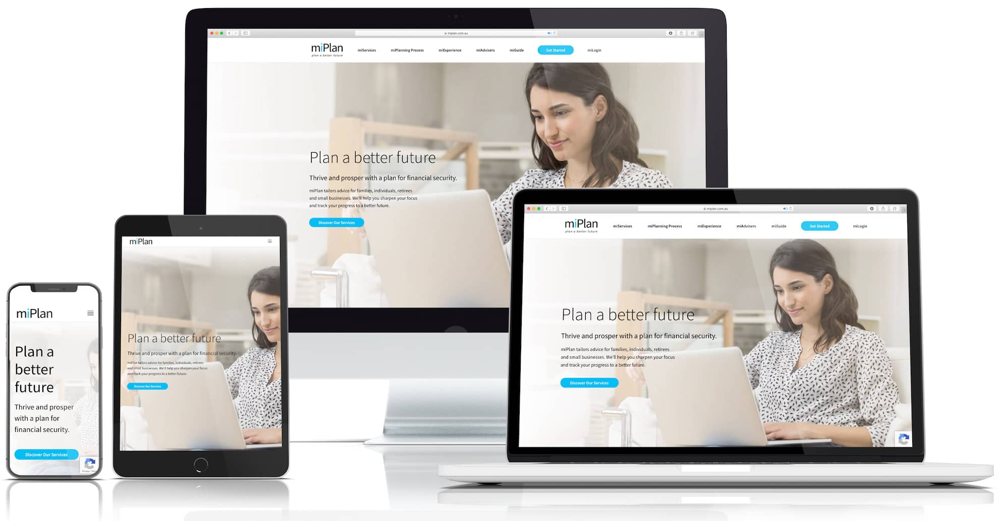 miPlan Website by Whitelam Media