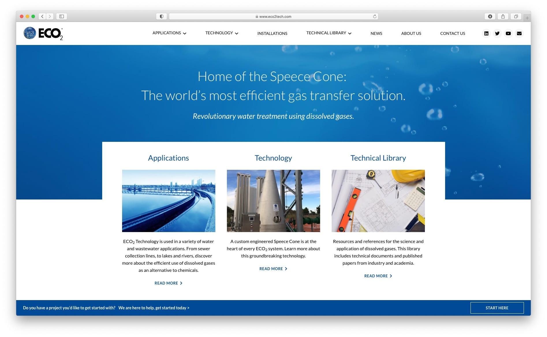 Eco2Tech Website Design and Build